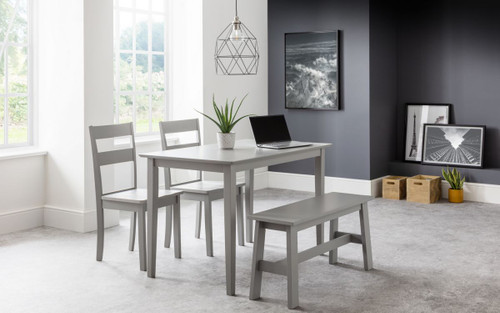 Kobe Dining Table, Bench and 2 Chairs