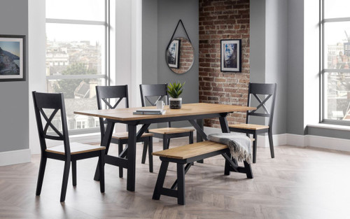 Hockley Dining Table, Bench and 4 Chairs