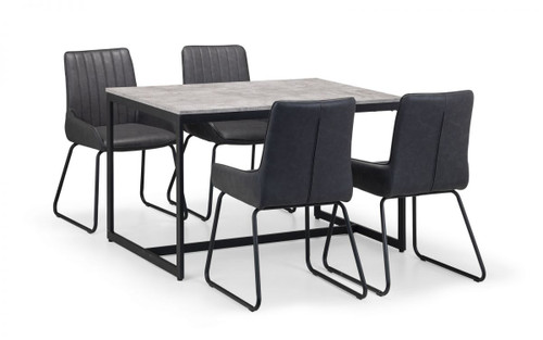 Staten and Soho Dining Set with 4 Chairs