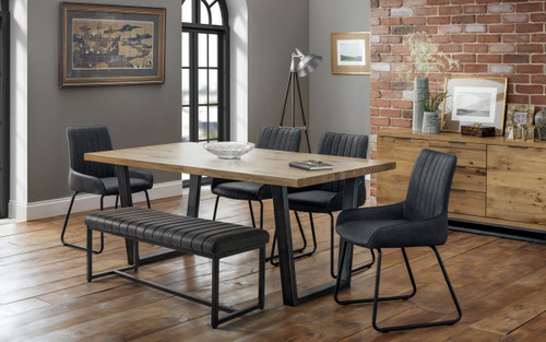 Brooklyn and Soho Dining Table, Bench and 4 Chairs