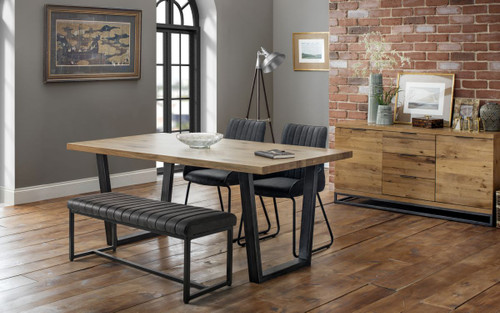 Brooklyn and Soho Dining Table, Bench and 2 Chairs