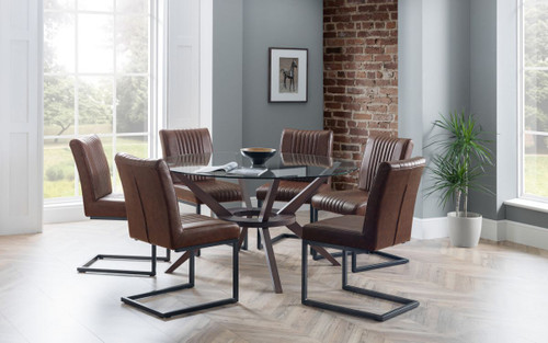 Chelsea Dining Set with 6 Brooklyn Chairs