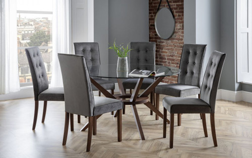 Chelsea Dining Set with 6 Madrid Chairs