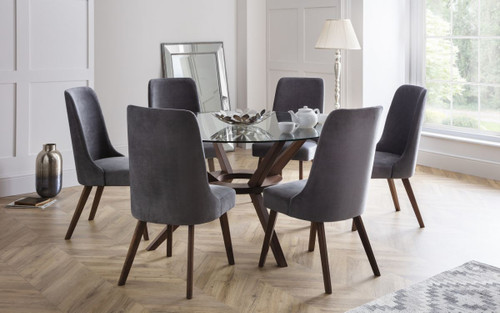 Chelsea Dining Set with 6 Huxley Chairs
