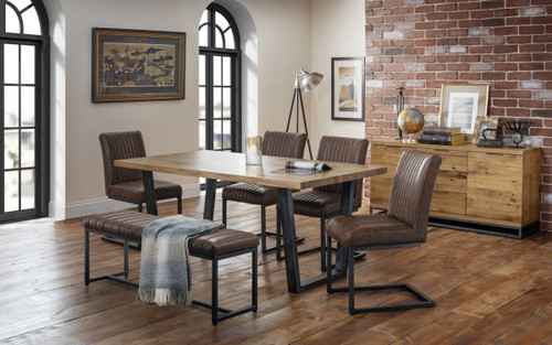 Brooklyn Dining Set, Bench and 4 Chairs