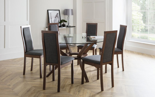 Chelsea Dining Set with 6 Melrose Chairs