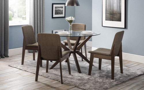 Chelsea Round Dining Table with 6 Kensington Chairs