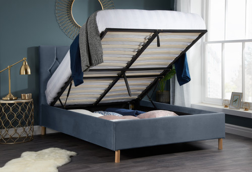 Loxley Grey Fabric Ottoman Bed
