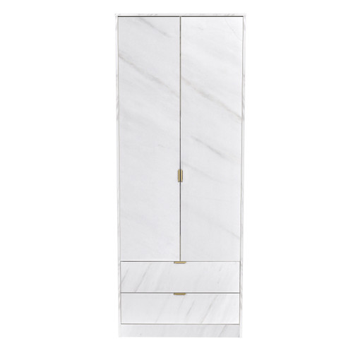 Hong Kong Marble 2 Door 2 Drawer Wardrobe