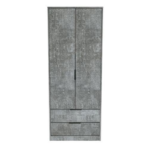 Hong Kong Pewter 2 Door 2 Drawer Wardrobe