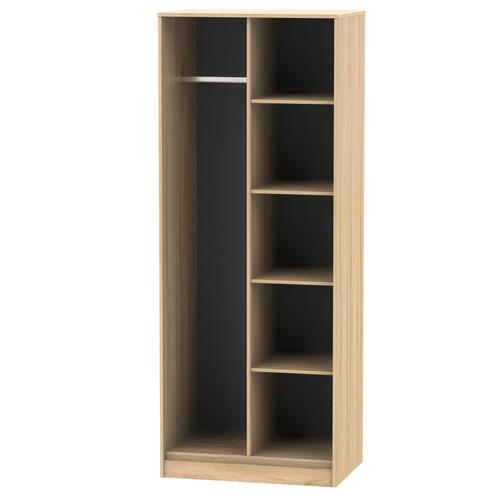 Hong Kong Nebraska Oak Open Shelf Wardrobe