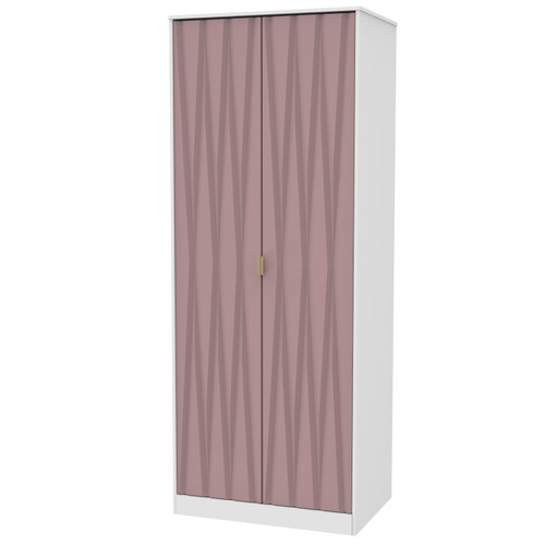 Diamond Kobe Pink 2 Door Wardrobe