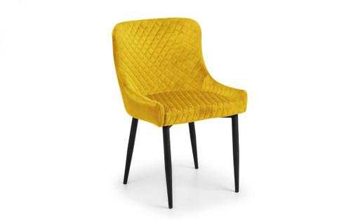 Luxe Mustard Velvet Dining Chair