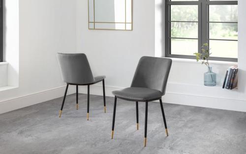 Delaunay Grey Dining Chair