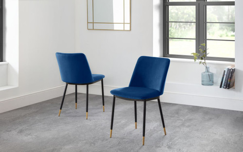Delaunay Blue Dining Chair