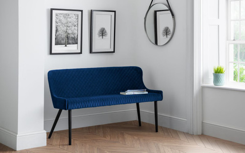 Luxe Blue High Back Bench
