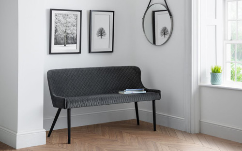 Luxe Grey High Back Bench