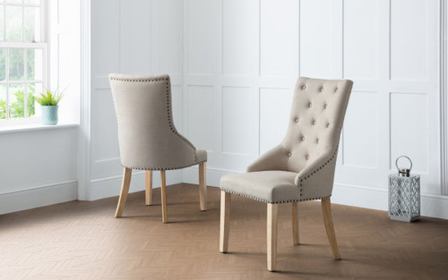 Loire Pair of Button Back Chairs