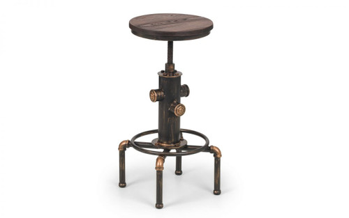 Rockport Pair of Pipework Bar Stools