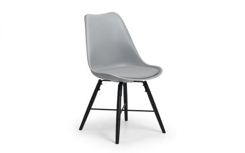 Kari Pair of Grey Dining Chairs