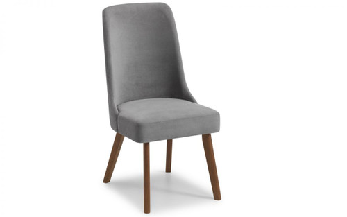 Huxley Pair of Chenille Dining Chairs