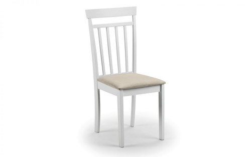 Coast Pair of White Dining Chairs