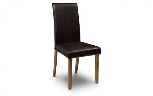 Hudson Pair of Brown Dining Chairs