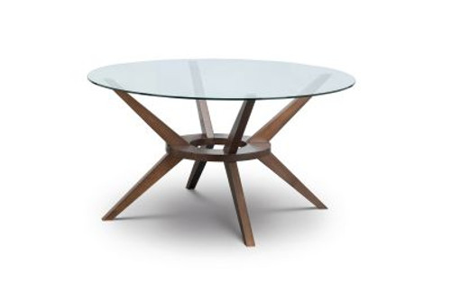 Chelsea Large Glass Round Top Dining Table
