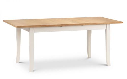 Davenport White Extending Dining Table