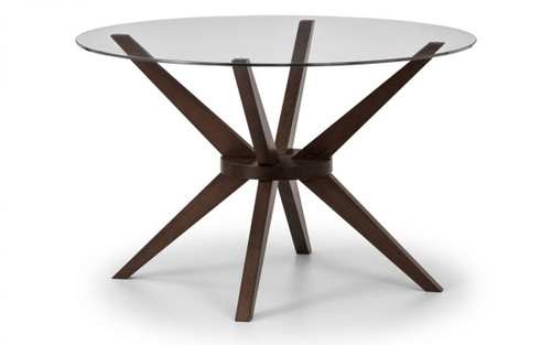 Chelsea Glass Round Top Dining Table