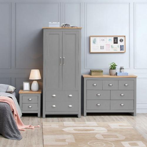 Lisbon Grey 3 Piece Bedroom Set (Trio 1)
