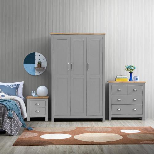 Lisbon Grey 3 Piece Bedroom Set (Trio 2)