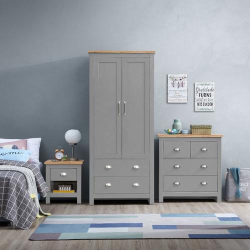 Lisbon Grey 3 Piece Bedroom Set (Trio 5)