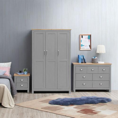 Lisbon Grey 3 Piece Bedroom Set (Trio 3)