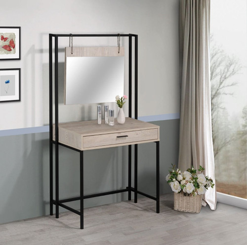 Zahra Ash Oak Dressing Table with Mirror