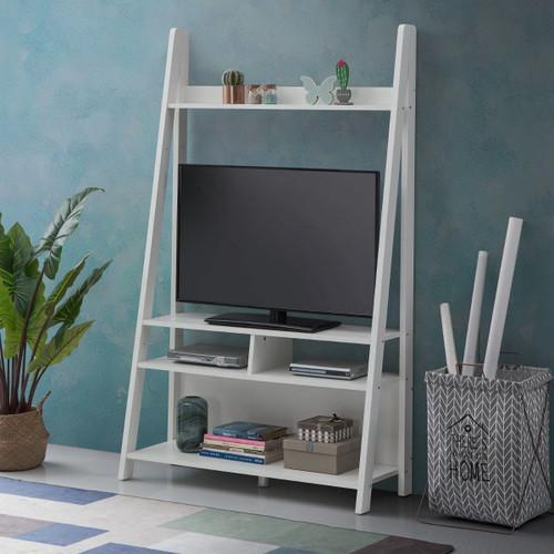 Riva White Ladder TV Unit