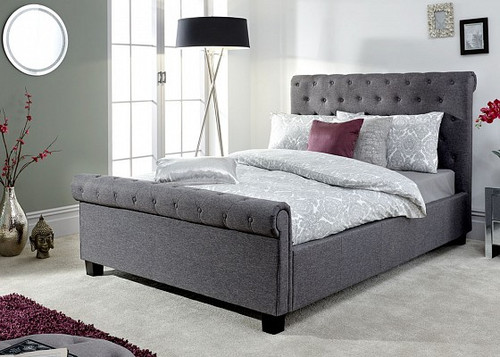 Layla Ottoman Bed in Charcoal Grey