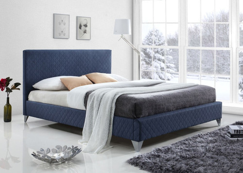 Brooklyn Bed in Blue Fabric