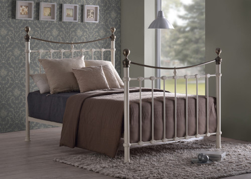 Elizabeth Ivory Metal Bed