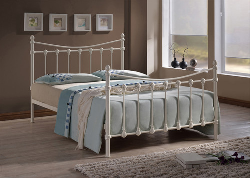 Florida Ivory Metal Bed
