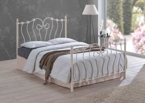 Inova Ivory Metal Bed