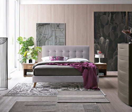 Novara Bed in Grey