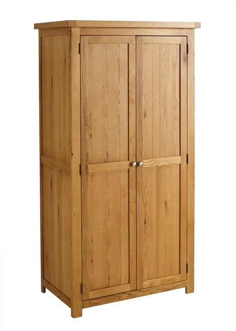 Woburn Solid Oak 2 Door Wardrobe