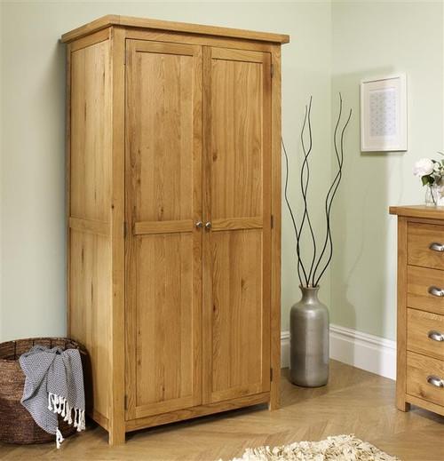 Woburn Solid Oak 2 Door Wardrobe