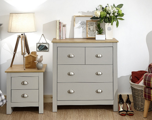 Lancaster 2+2 Drawer Chest in Grey