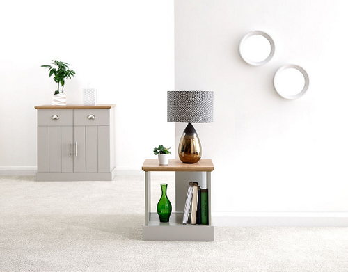 Kendal Cool Grey Lamp Table