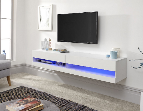Galicia White Mounted TV Unit 180cm