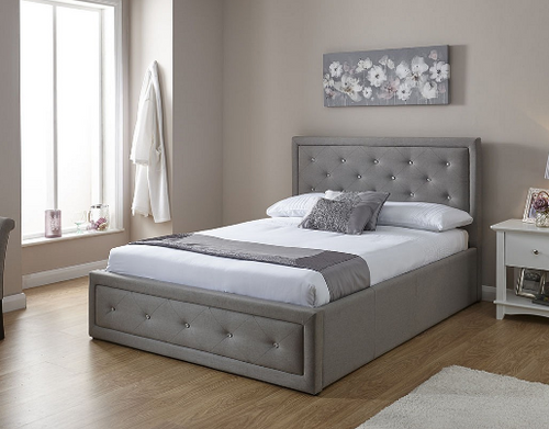 Hollywood Fabric Ottoman Bed