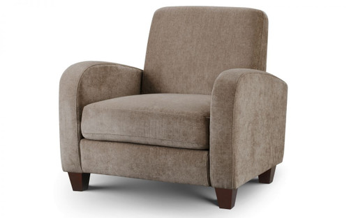 Vivo Mink Brown Chenille Fabric Armchair