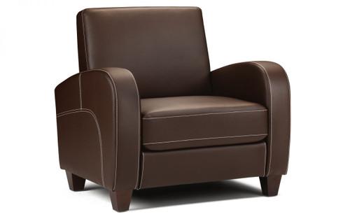 Vivo Faux Leather Armchair Brown